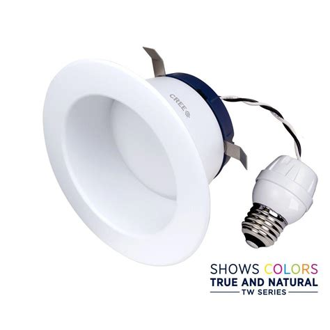 daylight recessed led lights cree tw series 65w equivalent daylight 4 in recessed
