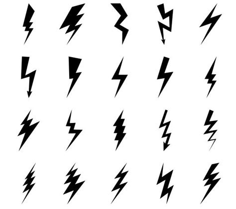 small lightning bolt tattoo lightning bolt icons by ssstocker on creativemarket
