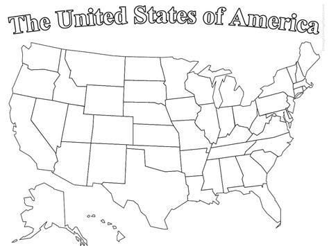 Coloring Pages For American Independence Day Coloring Pages United States Map Coloring Page