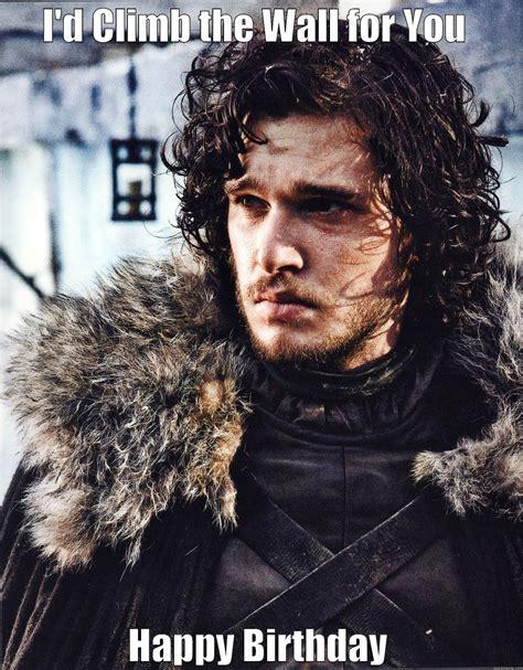 Game Of Thrones Birthday Meme - suave jon snow quickmeme