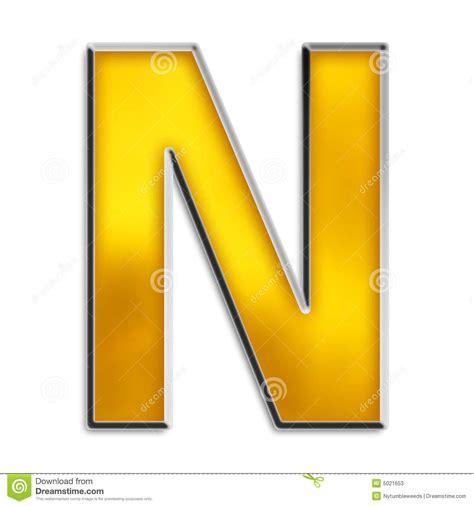 letra aislada n en oro brillante stock de ilustraci 243 n imagen 5021653