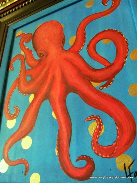 Where To Buy Cheap Home Decor Online original art on recycled canvas hand painted octopus and