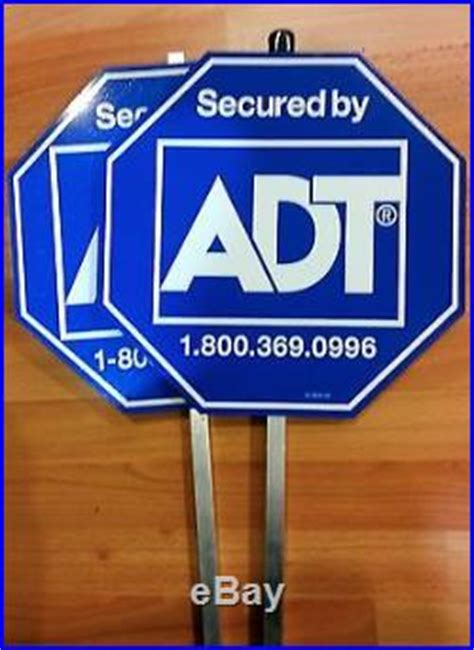 today only adt home security yard alarm sign buy 1 get 1
