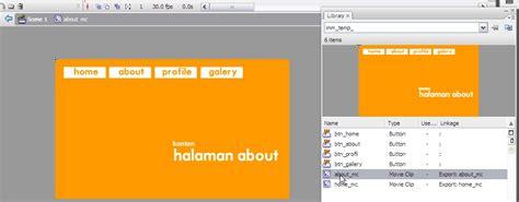 artikel membuat multimedia interaktif dengan flash tutorial membuat navigasi interaktif multimedia sederhana