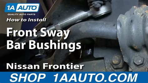 install replace front sway bar bushings