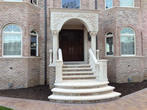 Precast Balustrade Concrete Balustrade Mediterranean Entry New York