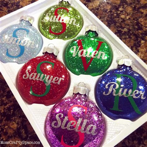 ornament personalized personalized glitter ornaments happiness is