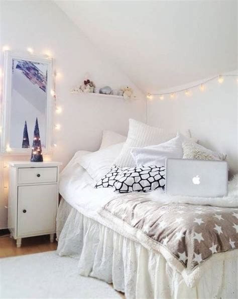 bedroom ideas white bed small and narrow teenage girl attic bedroom design with