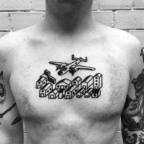 tattoo on my upper chest 50 simple chest tattoos for men manly upper body design ideas