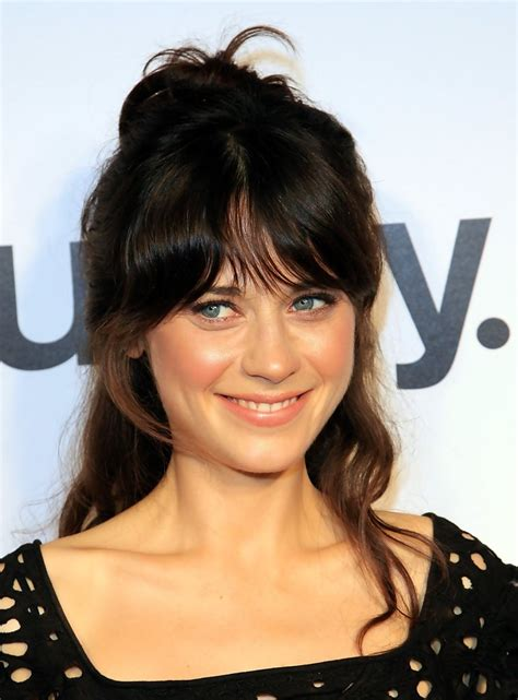 half up half down hairstyles without bangs bun beauty zooey deschanel prom hairstyles 2010