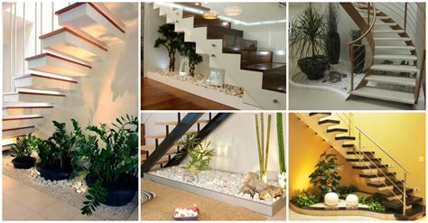 10 Vibrant Small Indoor Gardens Under the Stairs