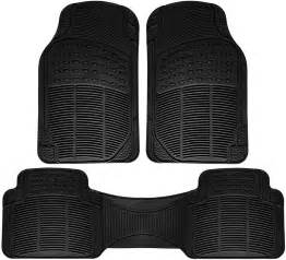 Custom Rubber Floor Mats For Trucks by Floor Mats For Suvs Trucks Vans 3pc Set All Weather Rubber