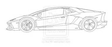lamborghini aventador side view ms paint by ant787 on