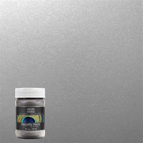modern masters 6 oz platinum silver matte metallic interior paint mm59106 the home depot