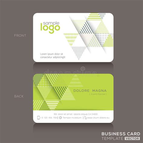 trendy business cards templates modern trendy business card design template stock vector