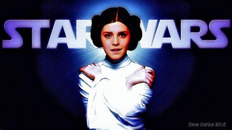 emma watson star wars emma watson as princess leia by dave daring on deviantart