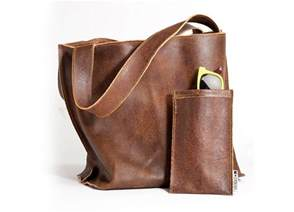 brown leather bag soft leather tote bag women bag