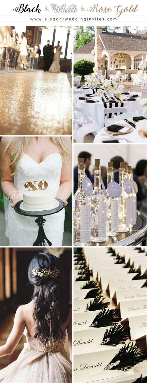 glamorous rose gold wedding color palette ideas
