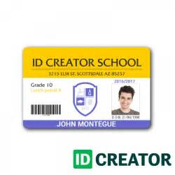School Id Templates by Horizontal Student Id Same Day Shipping From Idcreator