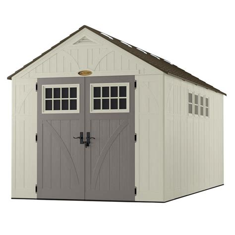 Storage Shed With Windows Designs Suncast Tremont 8x16 Storage Shed With Windows Bms8165 Free Shipping