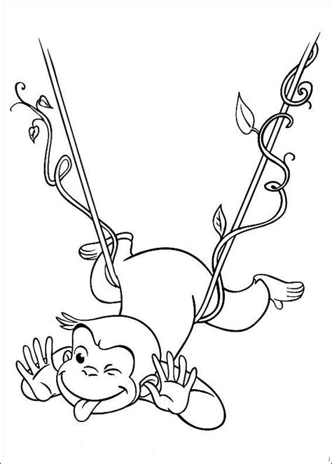 free coloring pages curious george monkey the curious george monkey coloring pages