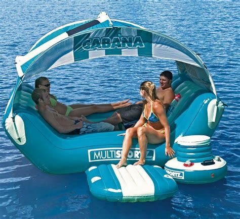 water lounge raft pool inflatable float lake swimming