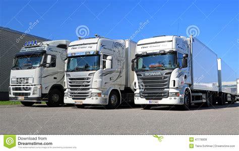 white volvo truck white volvo fe refuse collector truck editorial image