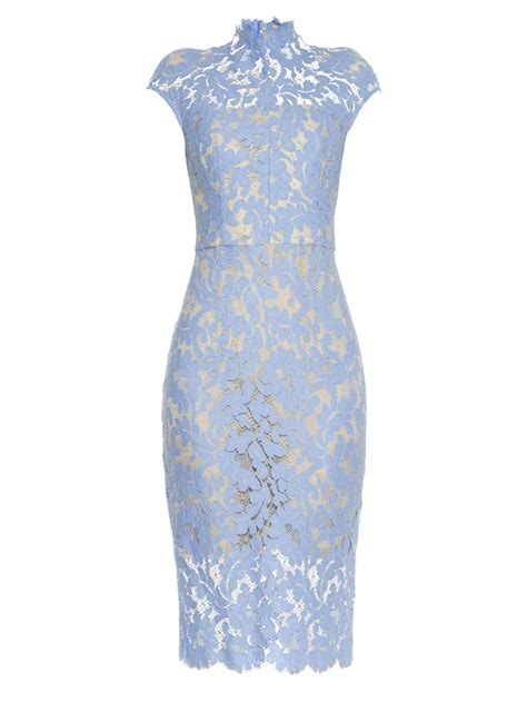 Blue Lace Dress lyst lover warrior lace midi dress in blue