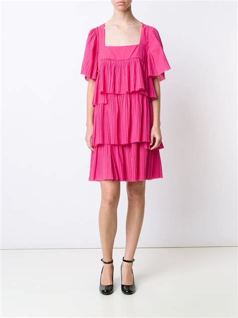 Pink Layered Dress rykiel layered rara dress in pink pink purple