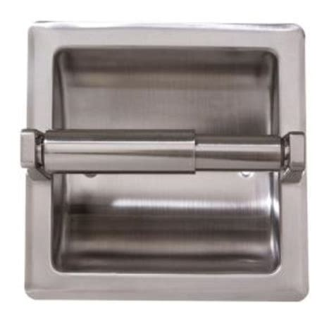 recessed toilet paper holder with shelf arista recessed toilet paper holder with mounting plate in