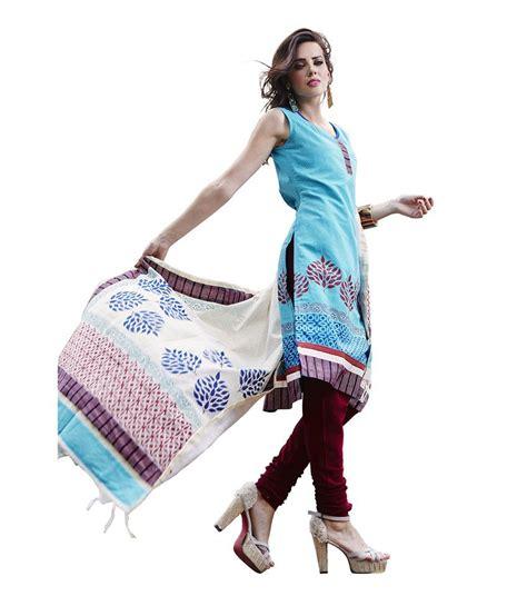 Dress Span 1 50 on sonal trendz blue silk printed regular dress material on snapdeal paisawapas