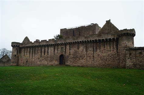 the curtain wall castle with round towers curtain wall castle