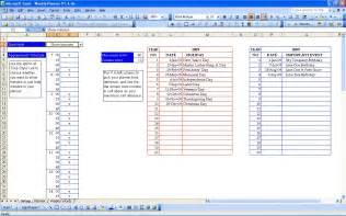 Excel Template Weekly Planner Weekly Planner Setup