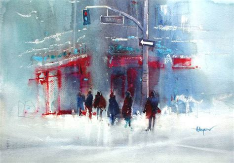 Herry Arifin Watercolour Paintings | urban watercolours by herry arifin