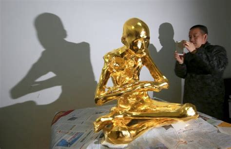 the golden monk mummified buddhist monk gets covered in gold and turned