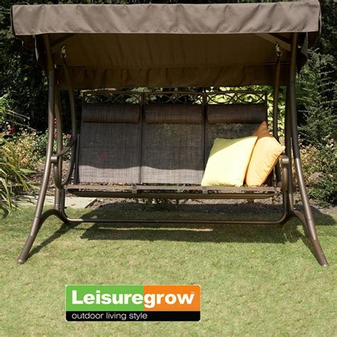 seat swings garden furniture leisuregrow west virginia 3 seat garden swing seat