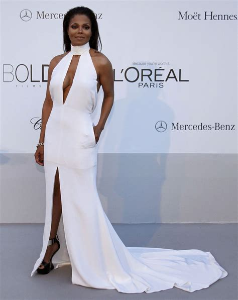 Dress Jenet janet jackson at amfar cinema against aids benefit at