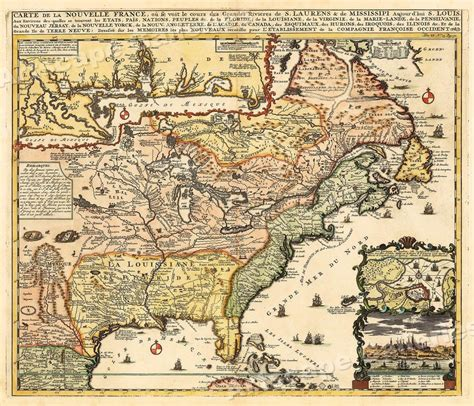 map of the us during the 1700s 1700s map of new vintage style early united