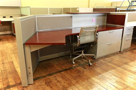 Kimball Reception Desk Kimball Cetra Cherry Reception Desk With Metallic Trim Peartree Office Furniture