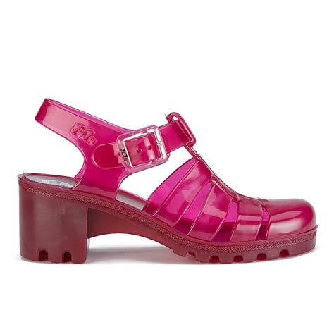 Wedges Jelly Permata Bbl501 2 juju s heeled jelly sandals garnet free uk delivery 163 50