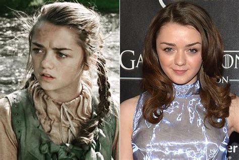 michelle fairley maisie williams look alike πώς είναι οι πρωταγωνιστές του game of thrones στην