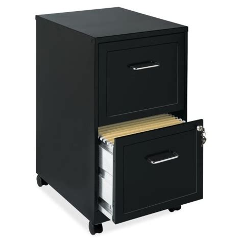 lorell 16872 2 drawer mobile file cabinet 18 inch
