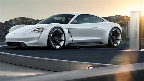 porsche mission e red porsche will install 500 fast chargers in usa ahead of