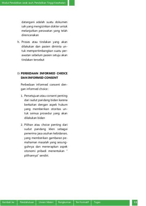 Aspek Hukum Informed Consent Dan Rekam Medis informed choice dan informed consent