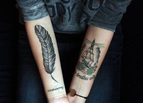 tattoo feather on arm feather tattoos