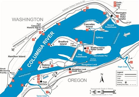 columbia river fishing map portland district gt locations gt columbia river
