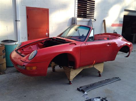 Porsche 993 Parts by 1995 Porsche 911 993 Convertible Chassis Body Complete