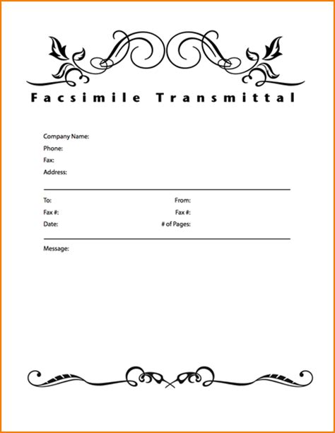 layout fax word 6 fax cover letter template teknoswitch