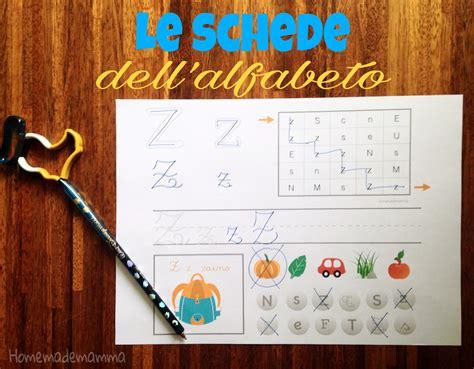 schede lettere alfabeto schede alfabeto