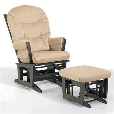 dutailier glider and ottoman set dutailier espresso modern glider and ottoman set with